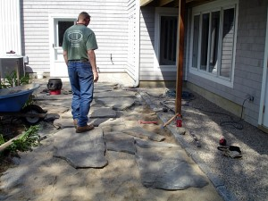 Kevin Cocklereece Landscape Design offers services like patio and slate walkway installation