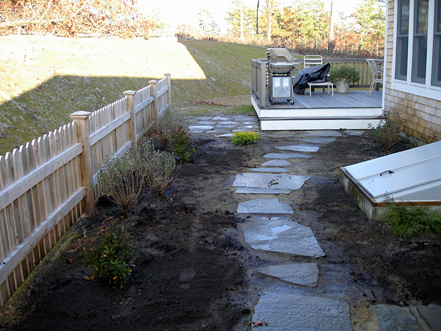 2 backyard slate path