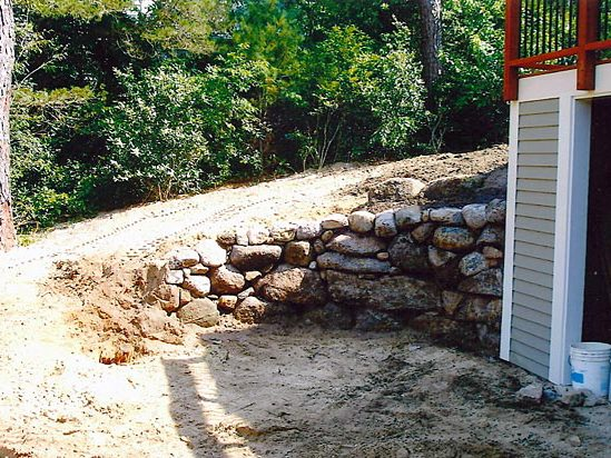 2 retaining wall installation phase I