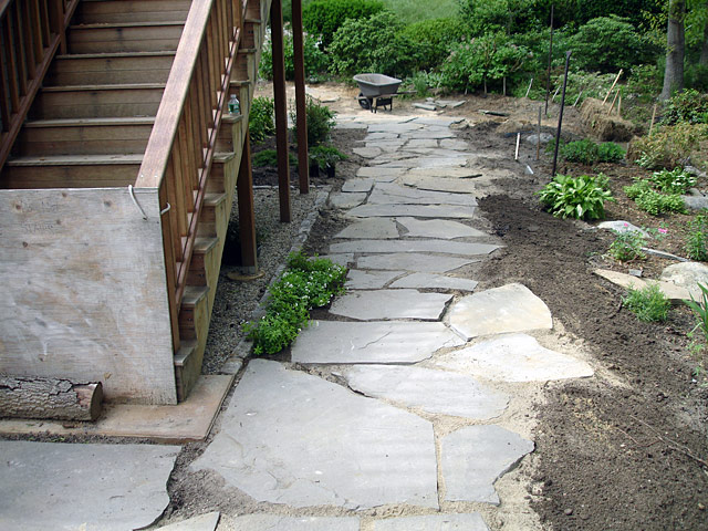 3 Backyard slate path phase  I I