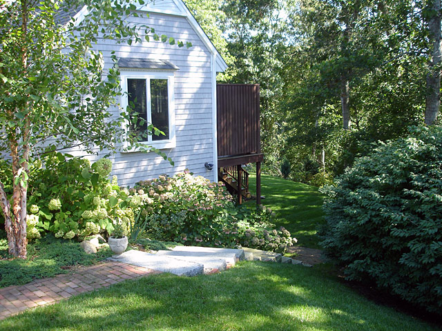 10 path leading to backyard summer view
