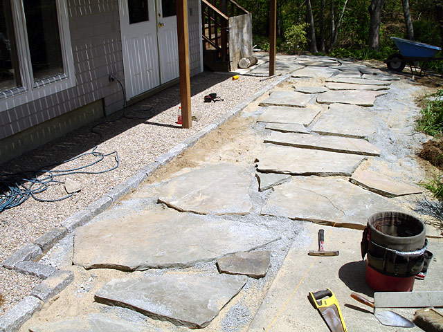 2 backyard slate path phase I