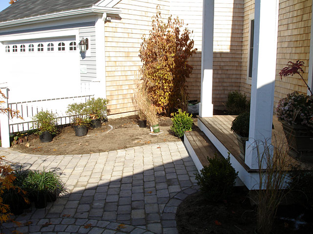 5 shrub planting beside front door alternate view