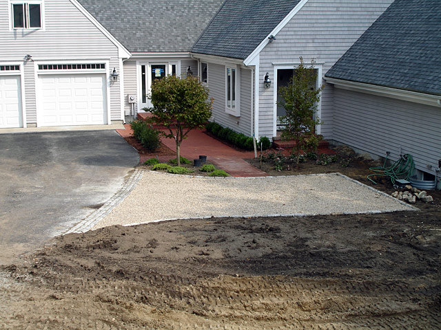 6a gravel parking space completed